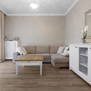 Salon w apartamencie w Warszawie