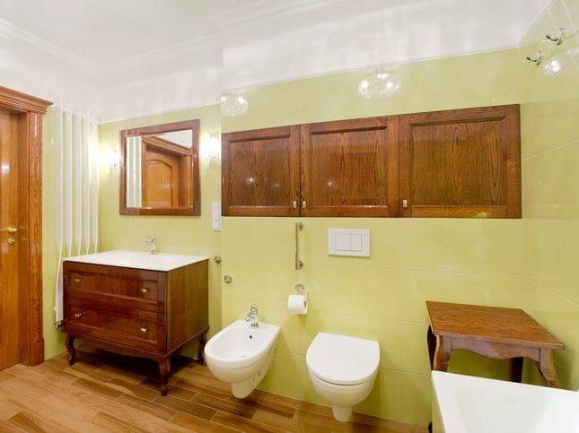 Łazienka w luksusowym apartamencie w Warszawie