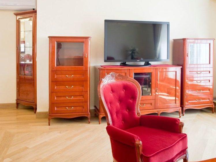 Salon w luksusowym apartamencie w Warszawie